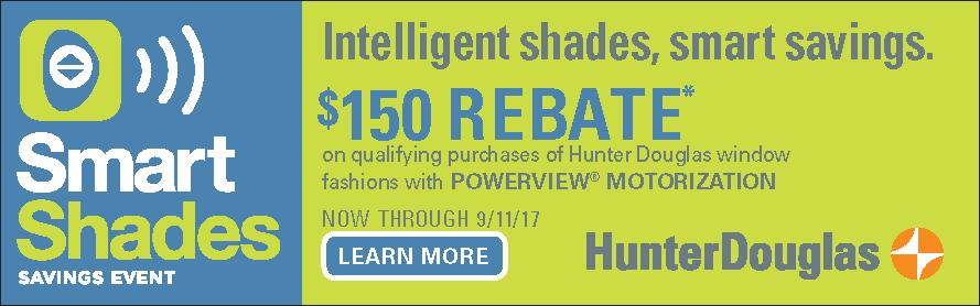 Hunter Douglas Smart Shades Savings Event Banner