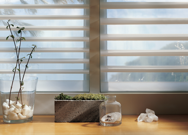 Hunter Douglas Pirouette Shadings Open