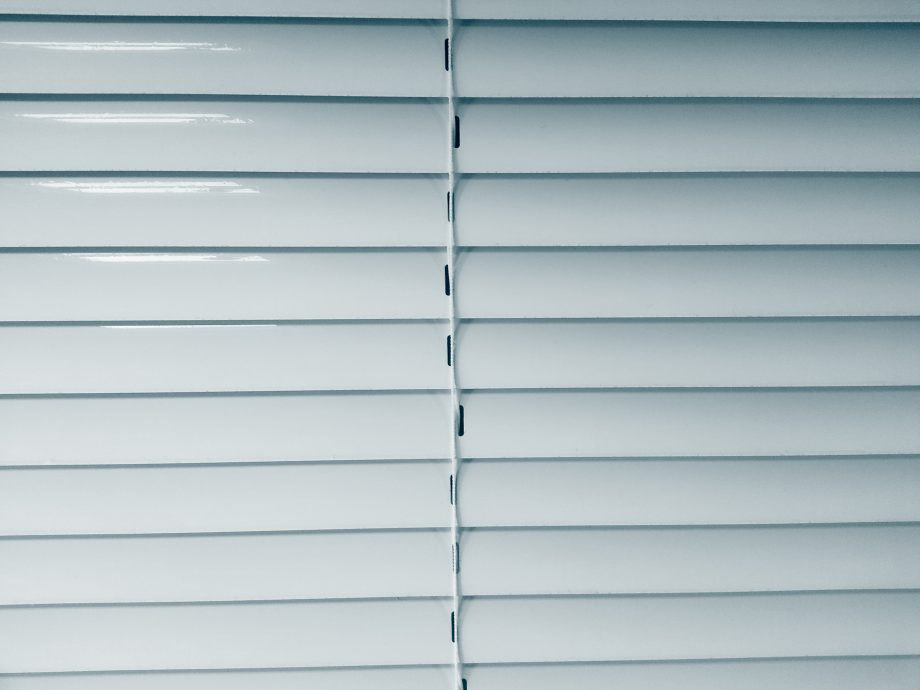 Window Blinds after cleaning