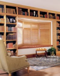 Wide slat shutters by Hunter Douglas