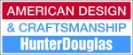 Hunter Douglas American Design and Craftsmanship logo